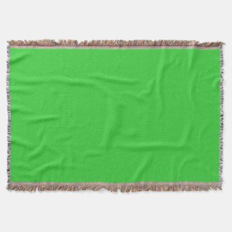 Light Lime Green Throw Blanket