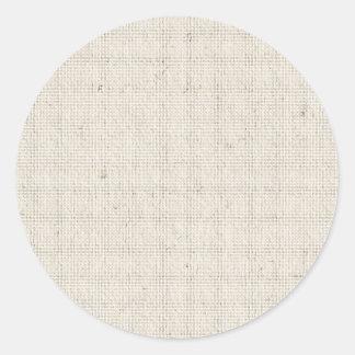 Light Linen Background Classic Round Sticker