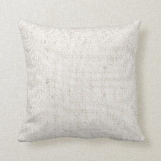 Light Linen Background Throw Pillow