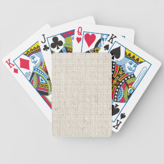 Light Linen Background Playing Cards