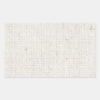 Light Linen Background Rectangular Sticker