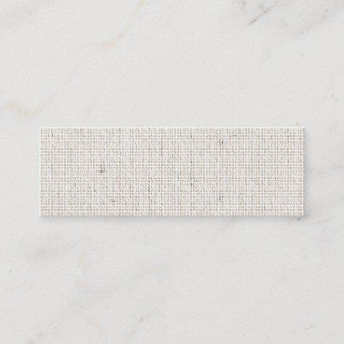 Light Linen Background Skinny Business Cards