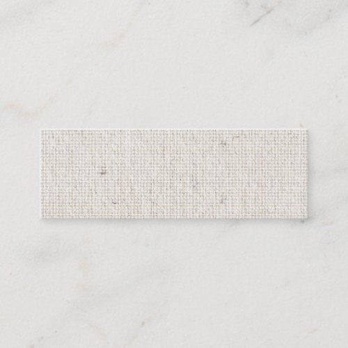 Light Linen Background Skinny Business Cards