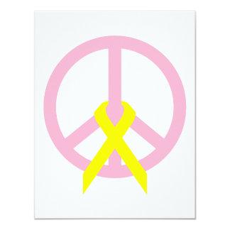 Light Link Peace & Ribbon 4.25x5.5 Paper Invitation Card