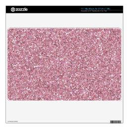 Light Lipgloss Pink Glitter Sparkle MacBook Skin