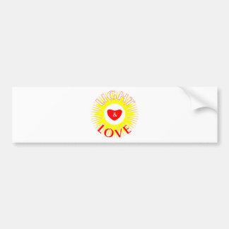 Light & Love Bumper Sticker