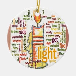 Light Lovely Ceramic Ornament