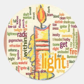 Light Lovely Classic Round Sticker