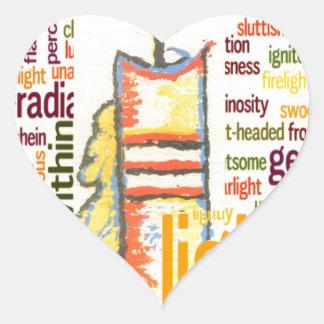 Light Lovely Heart Sticker