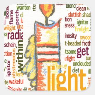 Light Lovely Square Sticker