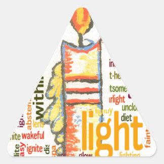 Light Lovely Triangle Sticker