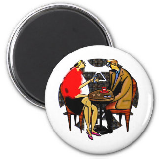 Light lunch red cup blue cup 2 inch round magnet
