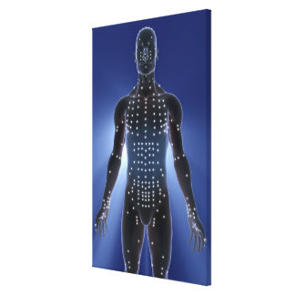 Light map of acupuncture points canvas print