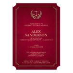 Light Maroon and Gold Law School Graduation Card
