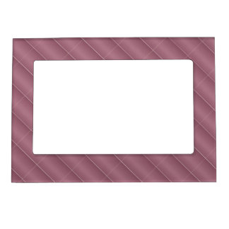 Light Maroon Metal Shades Patterns Borders Picture Frame Magnets