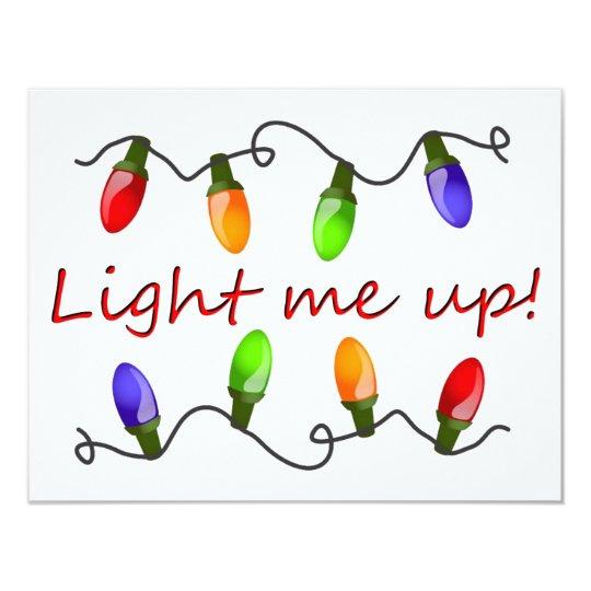 Light me up! card