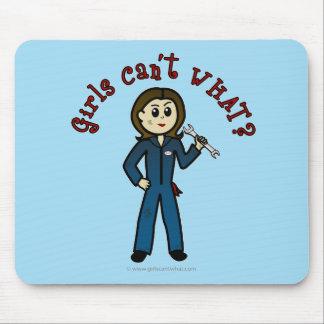 Light Mechanic Girl Mouse Pad