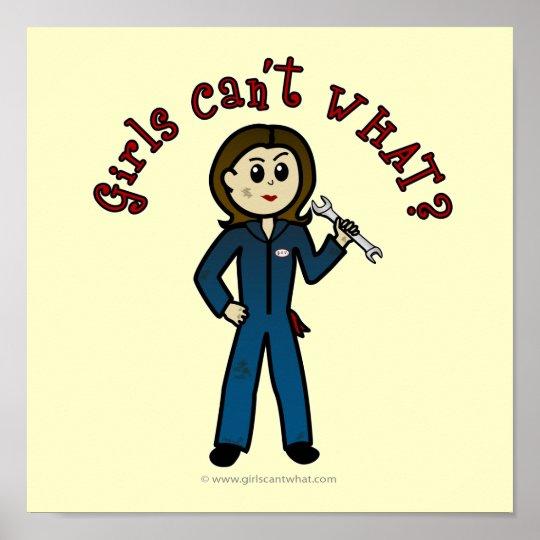 Light Mechanic Girl Poster