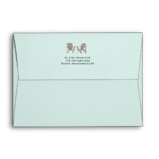 Light Mint A7 | Adirondack Chairs Envelopes
