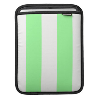 Light Mint Green and White Huge Stripe Pattern iPad Sleeves