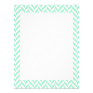 Light Mint Green Chevron Pattern Letterhead