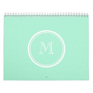Light Mint Green High End Colored Calendar