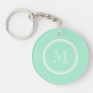 Light Mint Green High End Colored Keychain