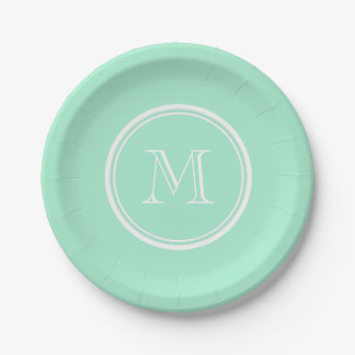 Light Mint Green High End Colored Matching 7 Inch Paper Plate