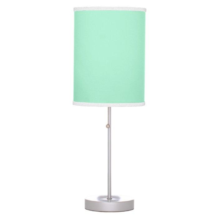 Mint Green Desk Lamps Zigzag Chevron Stripes Lamp