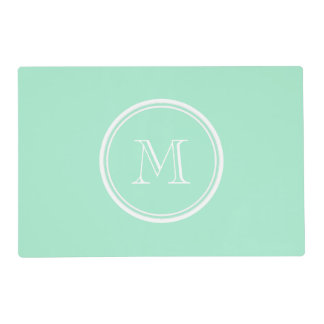 Light Mint Green High End Colored Matching Laminated Place Mat
