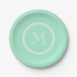 Light Mint Green High End Colored Matching Paper Plate  sc 1 st  Zazzle : light green paper plates - pezcame.com
