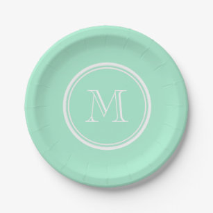 Light Mint Green High End Colored Matching Paper Plate  sc 1 st  Zazzle & Mint Green Plates | Zazzle