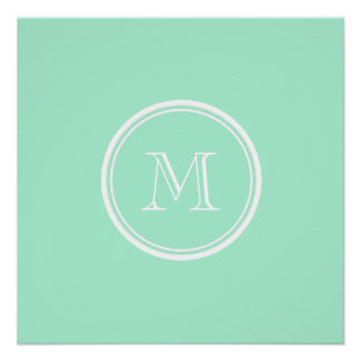 Light Mint Green High End Colored Poster