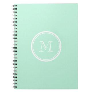 Light Mint Green High End Colored Spiral Notebook