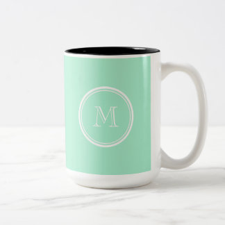 Light Mint Green High End Colored Two-Tone Coffee Mug