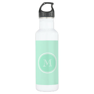 Light Mint Green High End Colored Water Bottle
