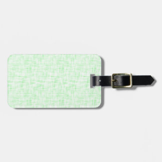 Light Mint Green Linen Look Background Luggage Tag