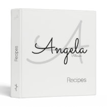 light monogram for the chef recipes, white binder