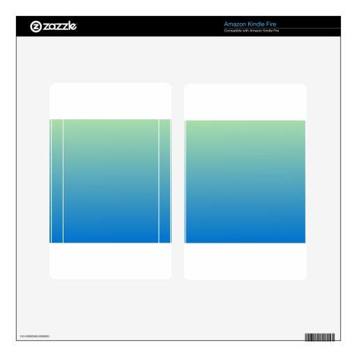 Light Moss Green to True Blue Horizontal Gradient Kindle Fire Skin