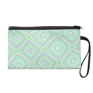 light multicolored green wristlet clutches
