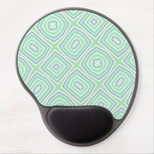 light multicolored green gel mouse pad