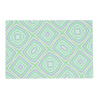 light multicolored green placemat