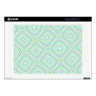 light multicolored green skin for acer chromebook