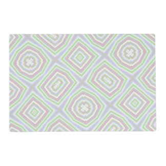 light multicolored pattern placemat