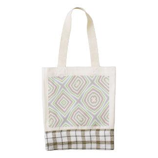 light multicolored pattern zazzle HEART tote bag