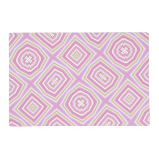 light multicolored pink placemat