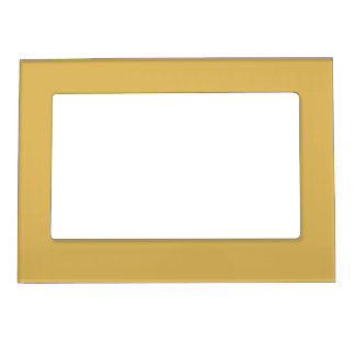 Light Mustard Yellow Solid Color Magnetic Picture Frame