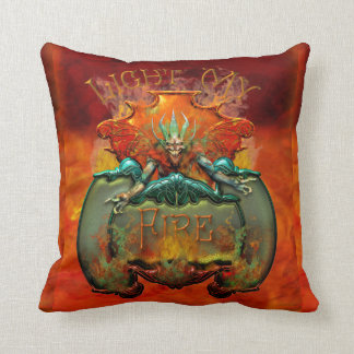 Light my Fire Demon Throw Pillows