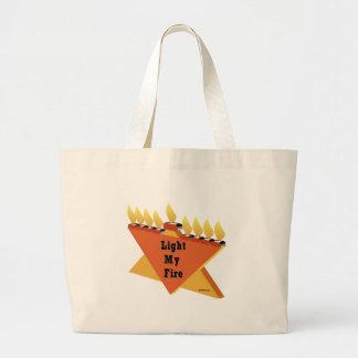 Light My Fire Hanukkah Gift Large Tote Bag