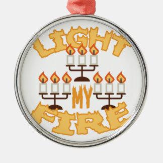 Light My Fire Metal Ornament